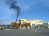 Government building and main waste incinerator