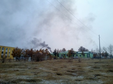 Gray smoke clouds rise above local Children's Center