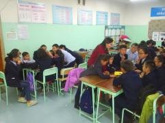 "Tungaa's 6th grade homeroom classroom ""What is Health?"" scenario discussions"