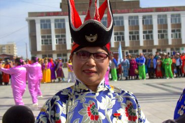 """Take my picture"" ~ Well-dressed Mongolian woman"
