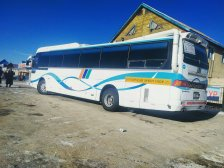 One of the buses that does the 7.5 hour drive from Arvaikheer to UB
