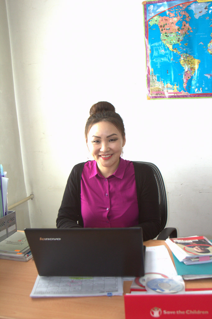 Baagii in her office smiling