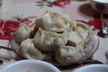 Buuz, all of which had to be eaten, according to the host
