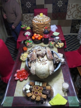 The entire Tsagaan Sar feast at home