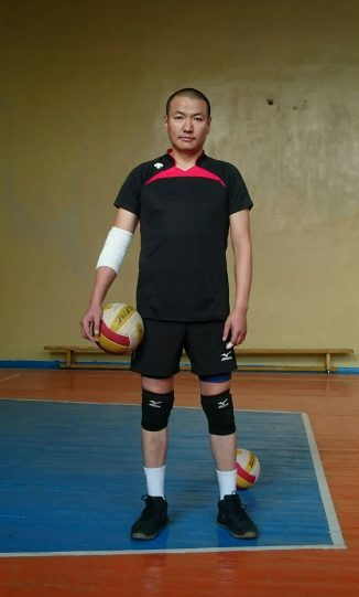 Byamba's hobby is volleyball