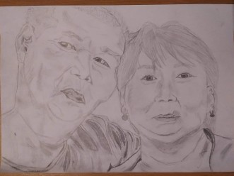 Drawing 12: My host parents