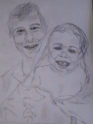 Drawing 13: My sister, Doro, and my neice