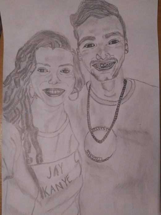 Drawing 14: Antonio and me <3